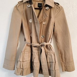 Express Belted Ruffled Trench